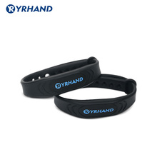 2pcs 13.56Mhz RFID IC Card Black Smart Wristbands Bracelets for rfid door locks