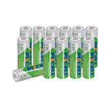Bateria recarregável de nimh da bateria de 12 x pkcell aa 1.2v 2200mah baixa auto-descarga durável 2a para o brinquedo e a câmera