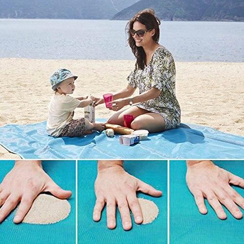 Alfombra de playa mágica de viaje al aire libre de arena mágica estera de playa de Picnic Camping impermeable manta de colchón plegable sin arena alfombra de playa