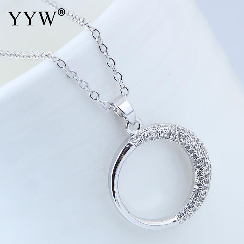 Hot Sale New Cubic Zircon Micro Pave Brass Necklace Plated Zirconia WomenS Pendant Necklaces Jewelry Gift
