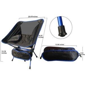 Image 5 - 휴대용 가벼운 무게 접는 캠핑 의자 의자 좌석 낚시 축제 피크닉 바베큐 비치 가방 오렌지 블루 레드 스카이 블루