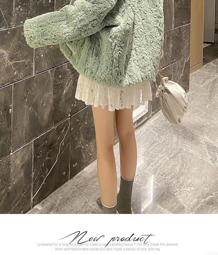 H376bc59c027142e4bacdde3b5ef54d87L Plush jacket women winter short 2021 new Korean version of loose lamb wool faux fur leopard print fur coat women winter