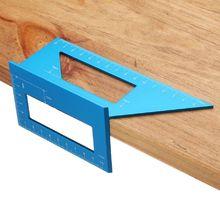 Multifunktionale Holzbearbeitung T-Typ Quadrat Winkel Lineal 45 90 Grad Aluminium Legierung 3D Platz Gauge Winkelmesser Messen Werkzeug
