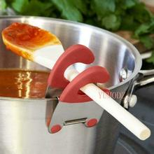 Kitchen Gadgets Home Spoon-Holder Spatula Anti-Scalding Functional Stainless-Steel Pot-Side-Clips
