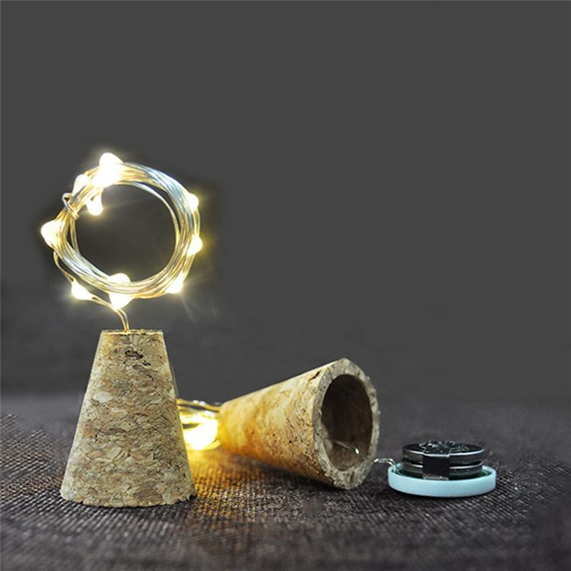 2M 20LED Waterproof Copper Wire Cork Bottle Lamp String Light 4 Modes Timer Setting For Bar Home Christmas Party Wedding Holiday