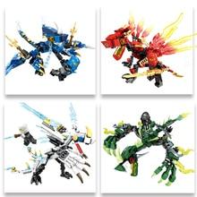 を千房けん輔ブロック142個ninjagosドラゴン騎士互換忍者zane会ジェイ教育diyのレンガのおもちゃ子供