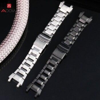 Palabras como ésa 316L de acero inoxidable pulsera de reloj para Casio MTG-B1000 serie reloj reemplazo de la correa de plata de Metal negro de negocios Correa