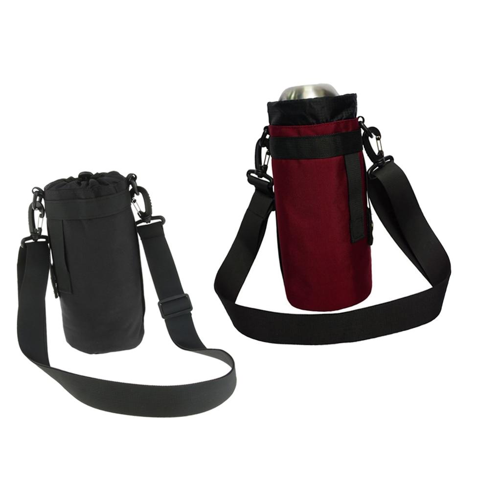 Water Bottle Carrier Holder Strap Pouch Sleeve Shoulder Messenger Tote Bag