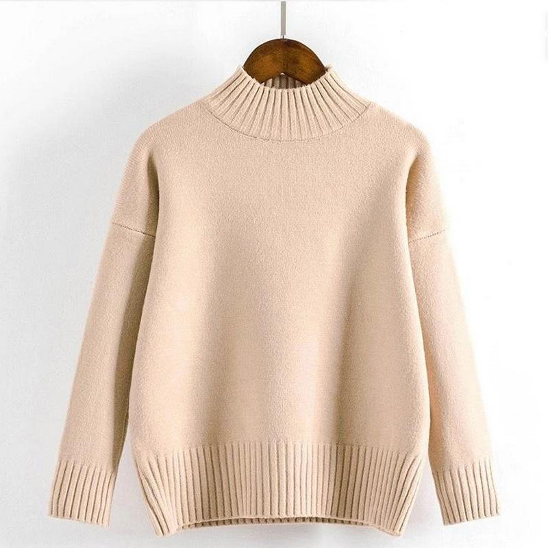 Cashmere Turtleneck Sweater Women 2021 Fashion Autumn Winter Pullover Jumper Pull Femme Hiver Streetwear Casual Knitted Sweater 5