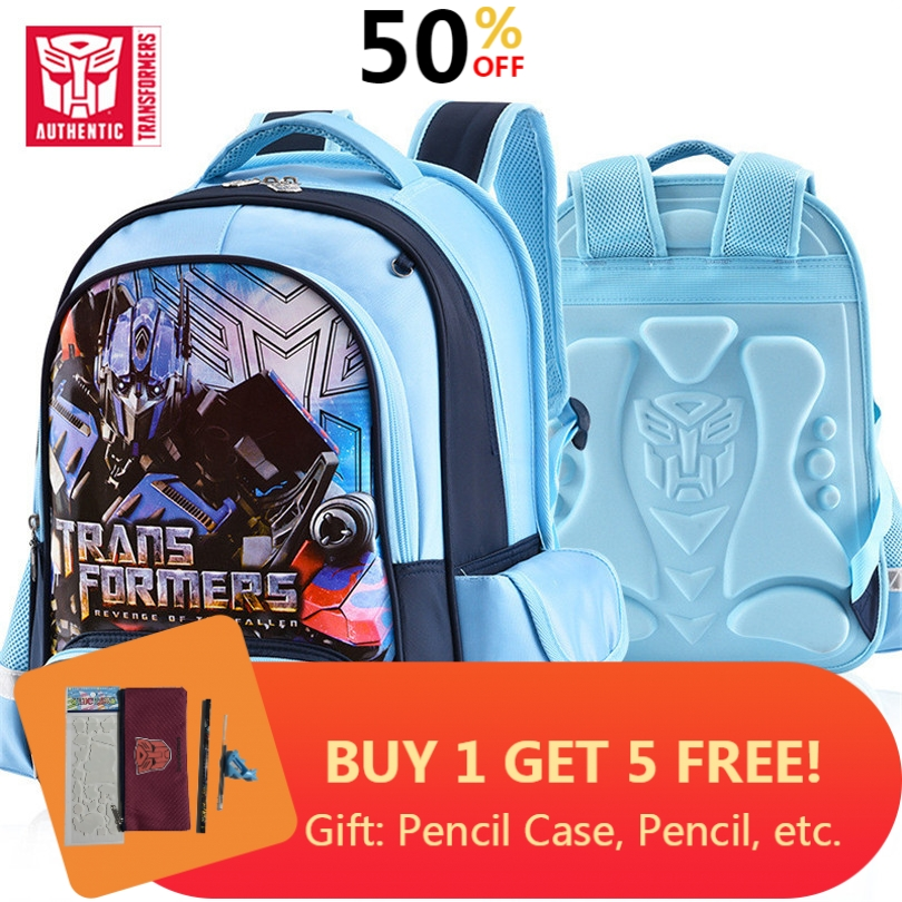 Transformers 2019 New Children's Backpack 4-8 Years Old Boy School Bag Children Cartoon Backpack Children Fashion Waterproof Bag
