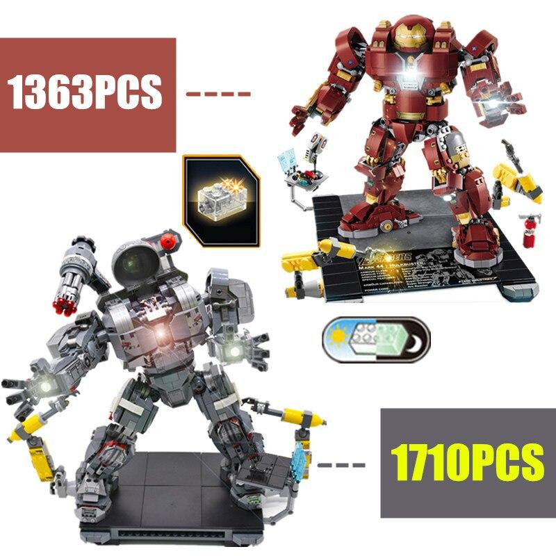 New Superheroes IronMan Hulkbuster Hulk War Machine Fit Avengers Endgame Marvel 76105 Figures Building Bricks Block