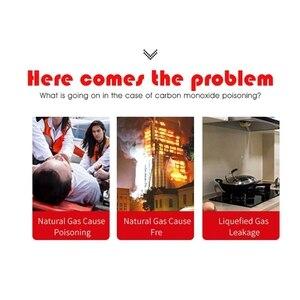 Image 5 - Combustible Gas Detector Sensor Lpg Natural Gas Analyzer Leak Determine Tester Sound Light Alarm Security Alarm System (Eu Plug)