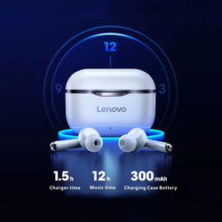 Lenovo LP1 Wireless Headphones Auriculares Bluetooth5.0 Waterproof Sport Earbud Noise Cancelling Mic Dual Stereo HIFI Bass Touch