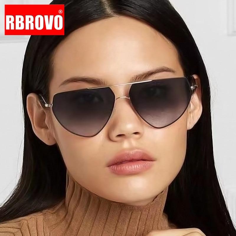 RBROVO Cat Eye Sunglasses Women Luxury Brand Sunglasses Women Designer Sun Glasses For Women/Men Vintage Oculos De Sol Feminino