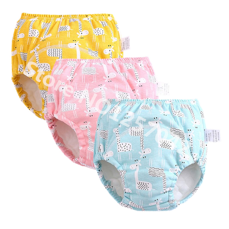Baby Diapers Reusable Nappies Cloth Diaper Nappy Washable Toddler Girl Boys Winter Panties Baby Waterproof Cotton Training Pants