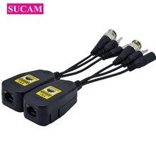 5 paia/lotto 8MP BNC al connettore RJ45 converti il Video ricetrasmettitore passivo del Balun dell'audio di potere per la videocamera di sicurezza del CCTV di 2MP 5MP 8MP
