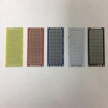 Spray en étain FR4 trou de soudure   Double épaisseur deux côtés 7*9cm 7x9cm 1.6mm rouge bleu blanc noir jaune Fiber de verre Test de soudure universel PCB
