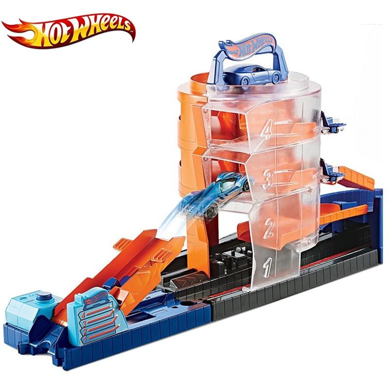 Hot Wheels Track Kids Toys City Theme Super Spin Dealership Multi-Colour Mini Diecast Car GBF95 Hotwheels Faixa De Brinquedo