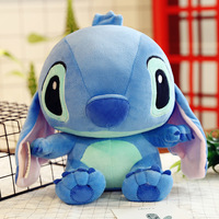 35cm Stitch Stuffed Animal Doll for Couples Pink Stitch Female Blue Genius Stuffed Plush Toys for Lovers Doll Birthday Present
