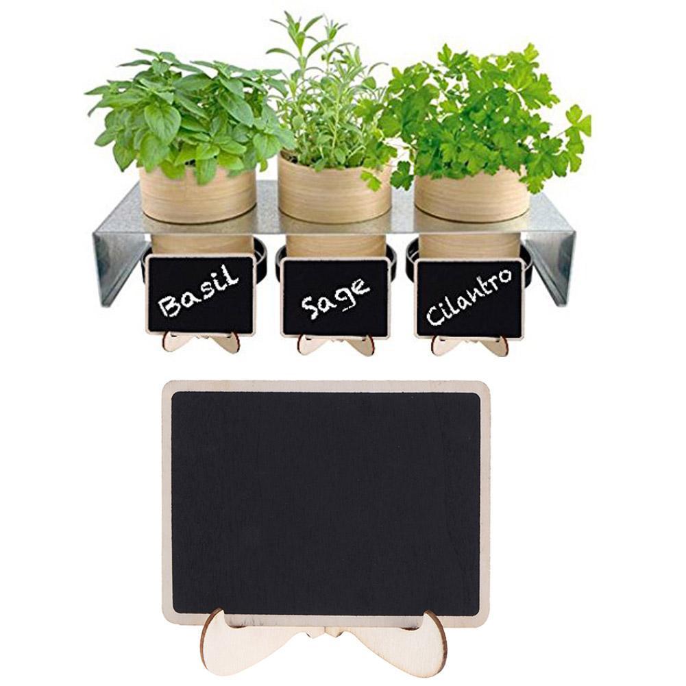 DIY Assembled Mini Blackboard Wooden Message Chalkboard Wedding Party Decor Labels Wood Chalkboard School Office Supplies