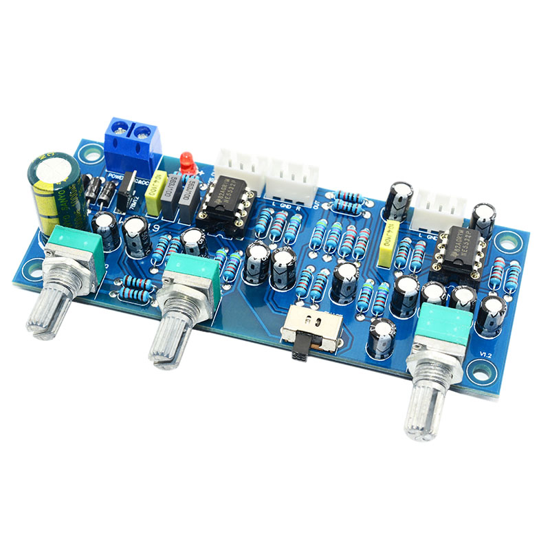 2.1 Channel Subwoofer Preamp Board Low Pass Filter Pre-Amp Amplifier Board Ne5532 Low Pass Filter Bass Preamplifier