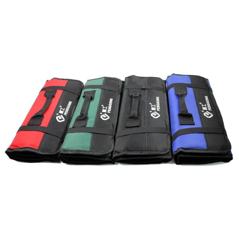 Multifunction Oxford Cloth Folding Wrench Tool Bag Roll Storage Pocket Tools Pouch Instrument Case Tool Organizer
