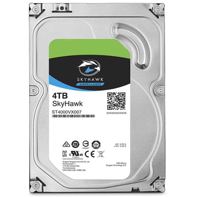 """New HDD For Seagate Brand Skyhawk 4TB 3.5"""" SATA 6 Gb/s 64MB 5900RPM For Internal Hard Disk For Surveillance HDD For ST4000VX007 3"""