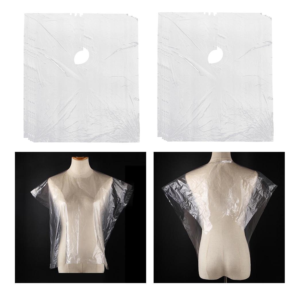 descartável claro diy protetor de vestido de salão de cabelo capas