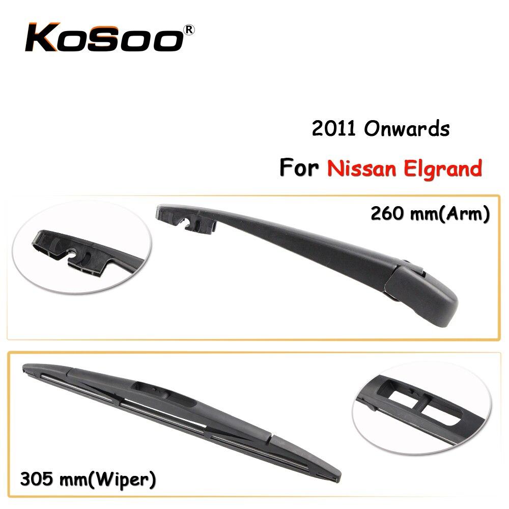 Чехол для автомобиля для Nissan Elgrand,305 мм, 2011 год, щетки стеклоочистителя заднего стекла, автомобильные аксессуары