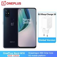 Oneplus nord n10 5g smartphones nfc 6.49 polegada snapdragon 690 octa núcleo 4300mah 16mp frente cam 6gb ram android 10 telefones celulares