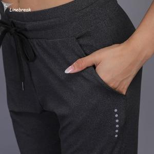 Image 4 - Calça harém feminina esportiva corrida, peça feminina moletom para academia treino yoga