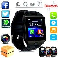 חכם שעון עם מצלמה DZ09 Bluetooth Smartwatch SIM TF כרטיס חריץ כושר פעילות Tracker ספורט שעון אנדרואיד PK Q18 שעונים
