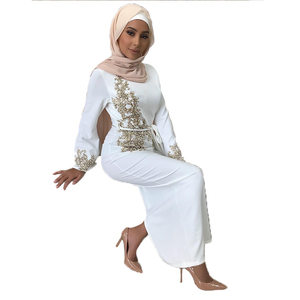 Image 2 - Dubai Muslim Prayer Dress For Women Moroccan Turkey Bangladesh Oman Islamic Clothing Robe Hijab