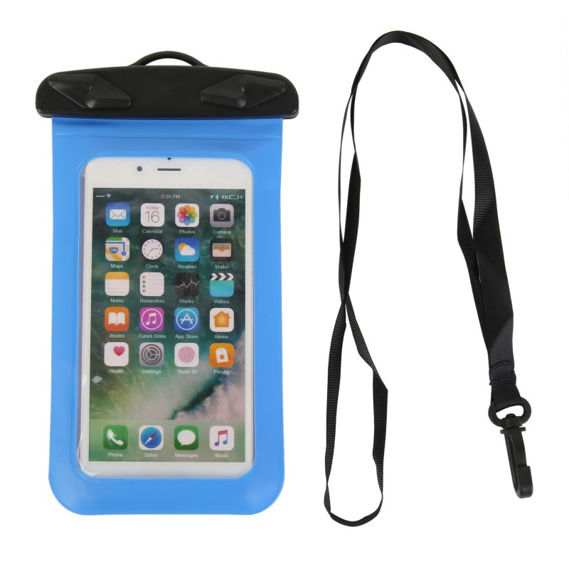 Universal Waterproof Phone Case Bag Swimming Cell Phone Dry Case PVC Portable Underwater Phone Pouch Case With Lanyard