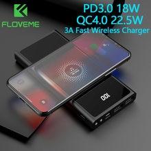 FLOVEME batterie d'alimentation 20000mAh QC4.0 22.5W pour iPhone12 Type C PD3.0 18W pauvre Bank pour xiaomi 3A chargeur rapide sans fil Powerbank