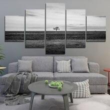 Пустой Пейзаж Плакат минималистическое украшение черно белая