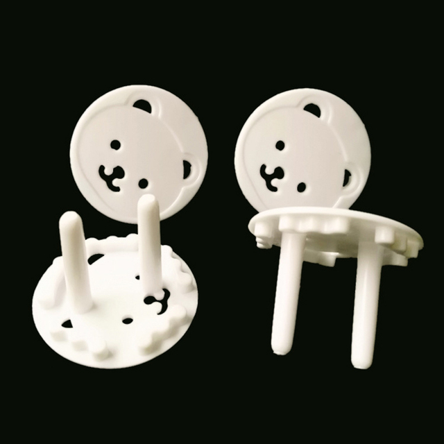 10pcs Baby Safety Child Electric Socket Outlet Plug Protection Security Two Phase Safe Lock Cover Kids Sockets Cover Plugs 3