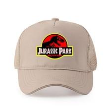 High quality pure cotton Men Jurassic Park Logo Printed Baseball cap Fashion Style cap women