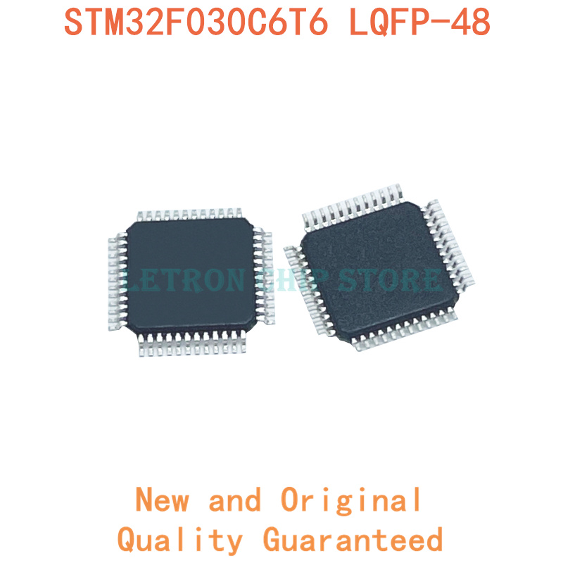 5PCS STM32F030C6T6 STM32F030C8T6 STM32F030CCT6 STM32F051C8T6 LQFP48 LQFP-48 QFP48 original e novo IC chip micro controlador