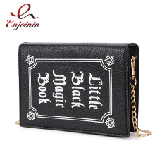 ENJOININ Fashion Magic Book Design Pu Purse Daily Clutch Bag Ladies Shoulder Bag Handbag Womens Crossbody Mini Messenger Bag