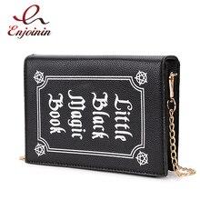 ENJOININ Mode Magie Buch Design Pu Geldbörse Täglich Kupplung Tasche Damen Schulter Tasche Handtasche der Frauen Umhängetasche Mini Messenger Tasche