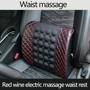 Waist Cushion Pillow For Car Seat Lumbar Back Supporter Pain Release Relieve Massager Auto Seat Support Car Interior Accessories