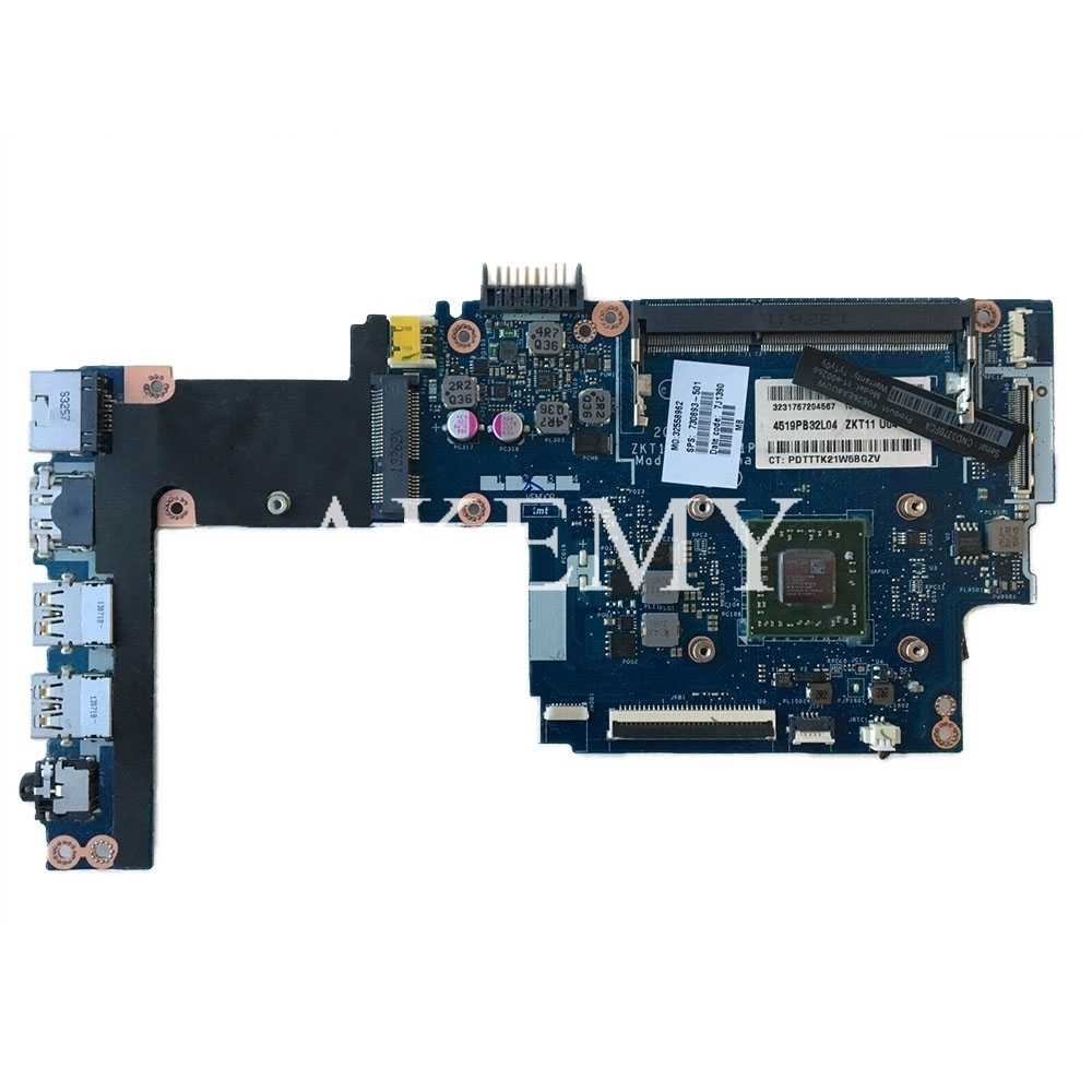730894-501 ZKT11 LA-A521P ل جناح HP TS 11-E سلسلة اللوحة مع وحدة المعالجة المركزية A6-1450 جميع الوظائف اختبارها بالكامل