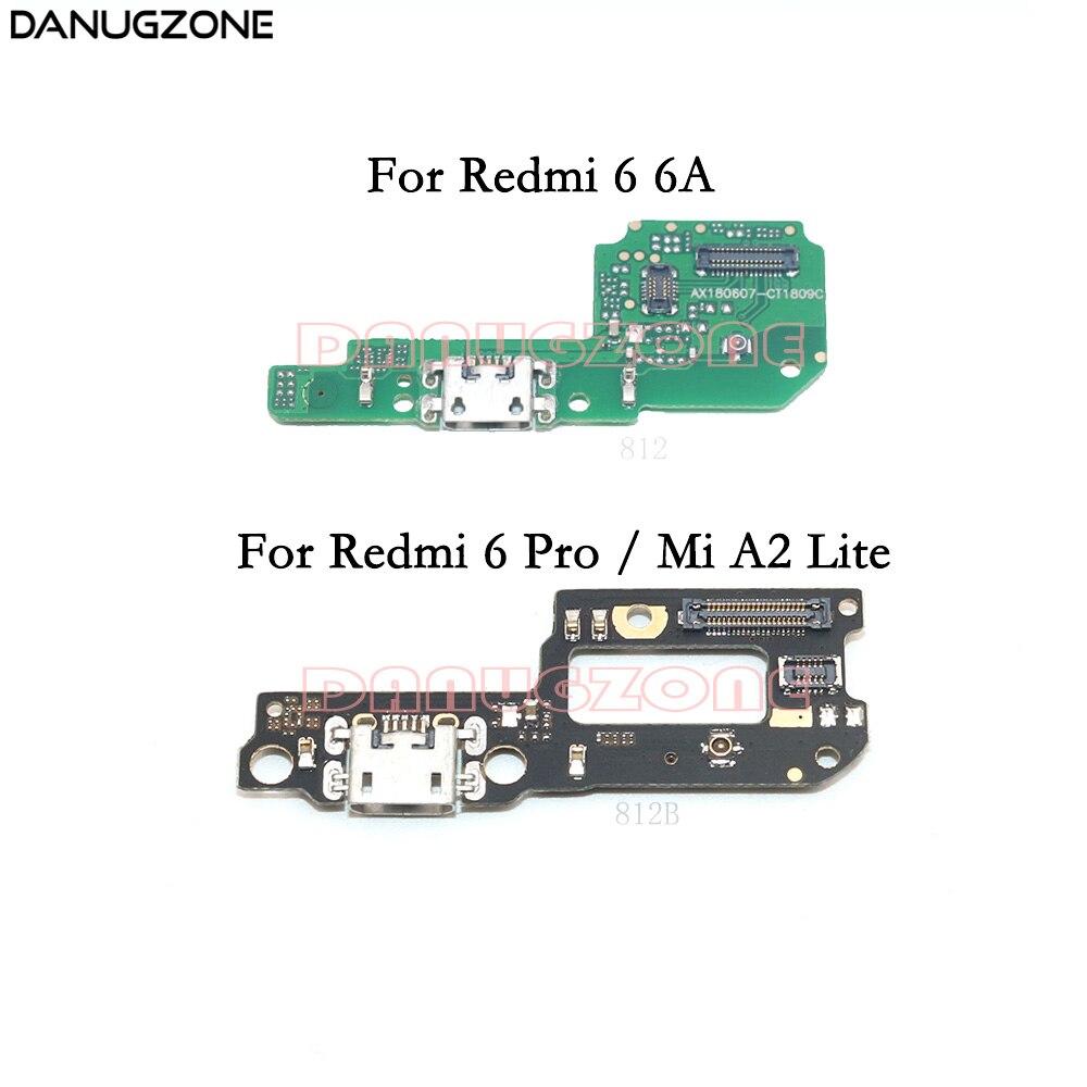 Doca de Carregamento USB Porta de Soquete Jack Plug Conector do Cabo Flexível da Placa de Carga Para Xiao mi mi Vermelho 6 6A/ 6 Pro/mi A2 Lite