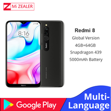 New Global Version Xiao Redmi 8 Smartphone 4GB RAM 64GB ROM Snapdragon 439 10W Fast Charging 5000 mah Battery Cellphone