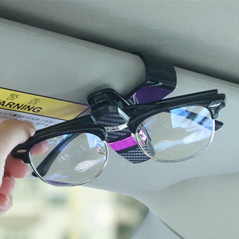 Güneş gözlüğü tutucu kart kalem Sunglass klip araba oto güneşlik klip tutucu güneş gözlüğü gözlük araba aksesuarları