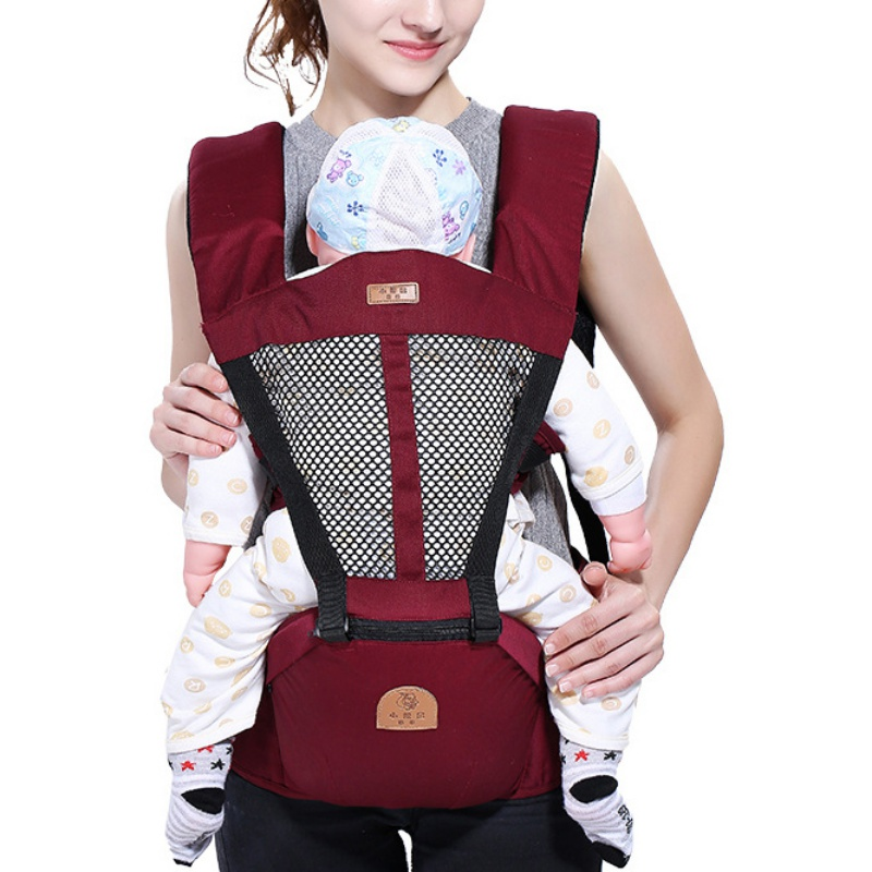 Soft Infant Baby Carrier Wrap Sling Newborn Backpack Breathable With Hip Seat