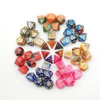 Nueva múltiples Mezcla Color 7 Uds juego de dados trgp juego poliedro D4-D20 multi-dado tallado torre de dados de rol multi-a dnd dados