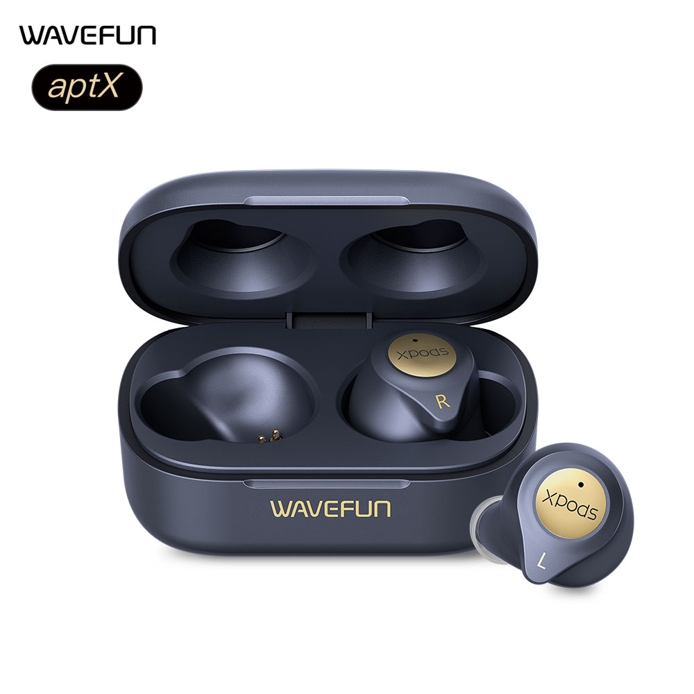 Wavefun XPods 3T Bluetooth Earphone aptX HIFI Headphones Wireless Charging Workout Headset Totally 45 Hours Music Time with Mic image