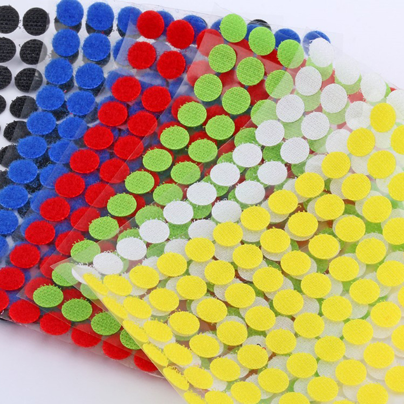 10mm Self Adhesive Fastener Tape Velcros Dots Sticker Nylon Hook And Loop Tape Sewing Tools Strong Glue 99pairs/lot
